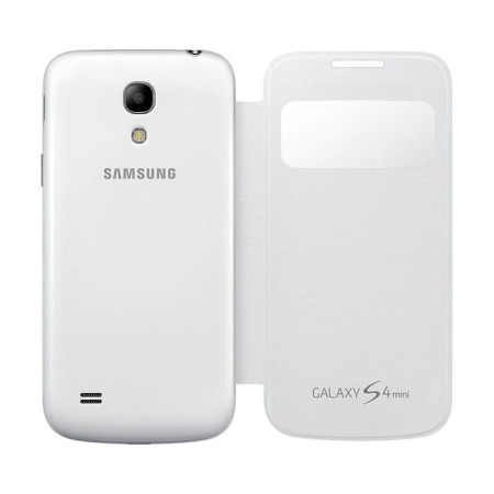 Official Samsung Galaxy S4 Mini S-View Premium Cover Case - White