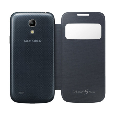 info for 1c59a ff259 Official Samsung Galaxy S4 Mini S-View Premium Cover Case - Black