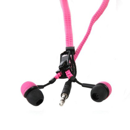 Zippit 3.5mm Anti-Tangle Earphones - Pink