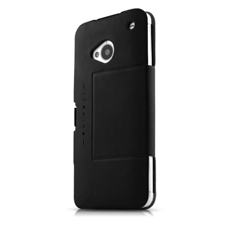 ITSKINS Plume Flip Case for HTC One M7 - Black