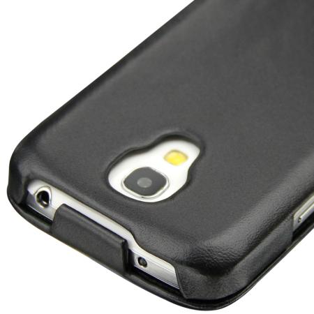 Housse en cuir Samsung Galaxy S4 Mini Noreve Tradition - Noire