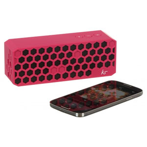 Kitsound Hive Bluetooth Wireless Portable Stereo Speaker - Pink