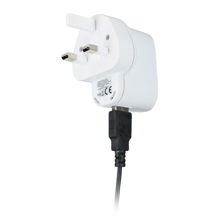 USB Mains Charger Adapter - White