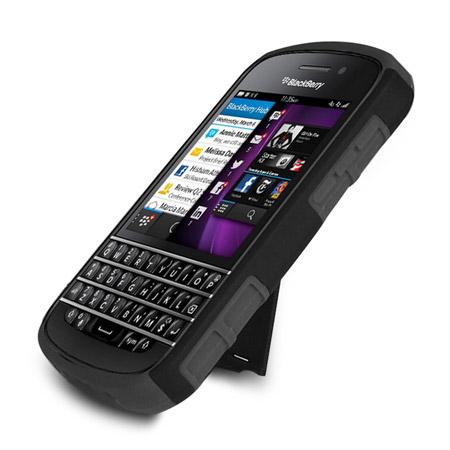 best service 32c88 379de ArmourDillo Hybrid Protective Case for BlackBerry Q10 - Black