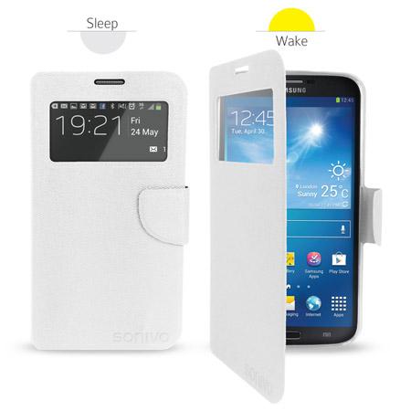 Sonivo Sneak Peek Flip Case for Samsung Galaxy Mega 6.3 - White