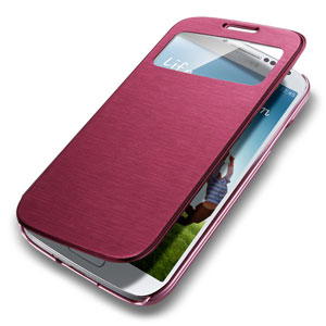 finest selection fb966 4ce14 Spigen Ultra Flip View Cover for Samsung Galaxy S4 - Metallic Red