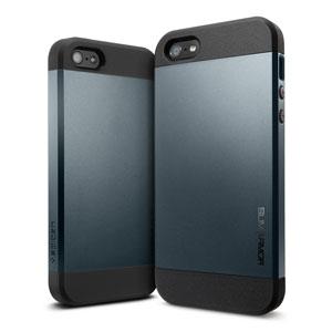 Spigen Slim Armor Case for iPhone 5S / 5 - Metal Slate