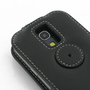 PDair Leather Flip Case for Samsung Galaxy S4 Mini - Black