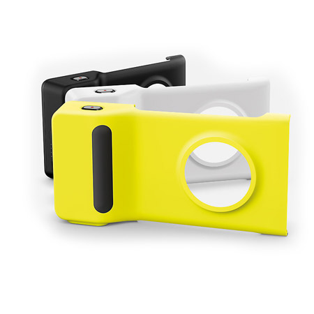 Of nokia pd 95g camera grip battery case for nokia lumia 1020 yellow