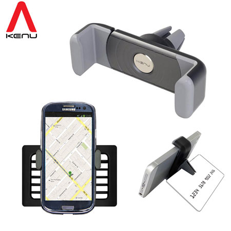 Kenu Airframe Portable In-Car Mount & Stand for Smartphones - Zwart