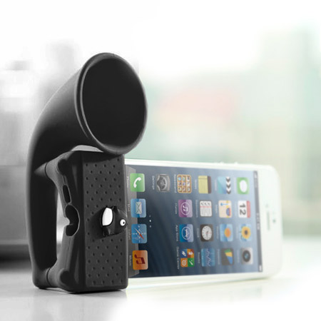 Bone Collection Horn Amplifier Stand for iPhone 5 - Black