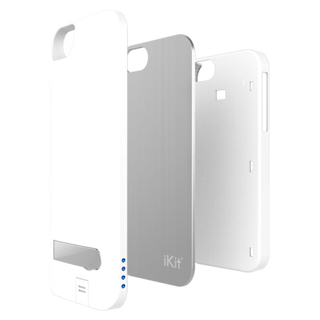 IKit NuCharge Battery Pack & Case for IPhone 5S / 5 - White