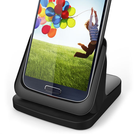 Samsung Galaxy S4 Ultra-Thin Case Compatible HDMI Charging Dock