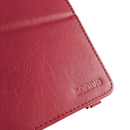 Sonivo Leather Style Case for Google Nexus 7 2013 - Red