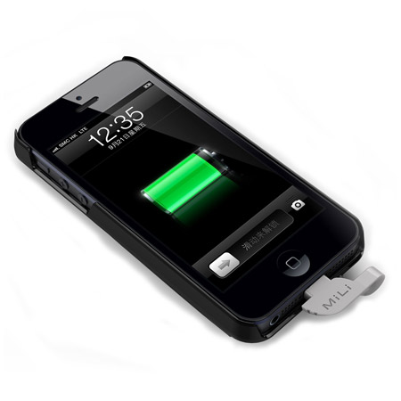 Mili Power Spring 5 Charging Case For Iphone 5s 5 Black