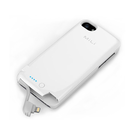 MiLi Power Spring 5 Charging Case for iPhone 5S / 5 - White