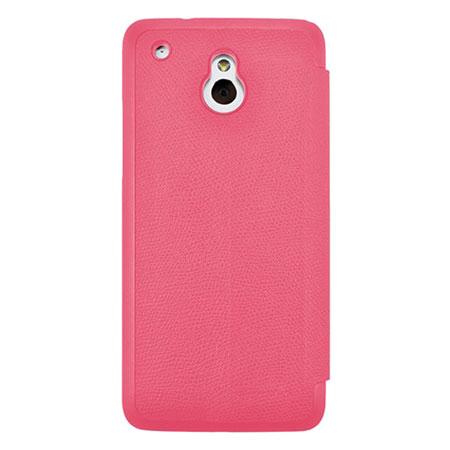 Metal-Slim UV Protective Flip Case for HTC One Mini - Pink