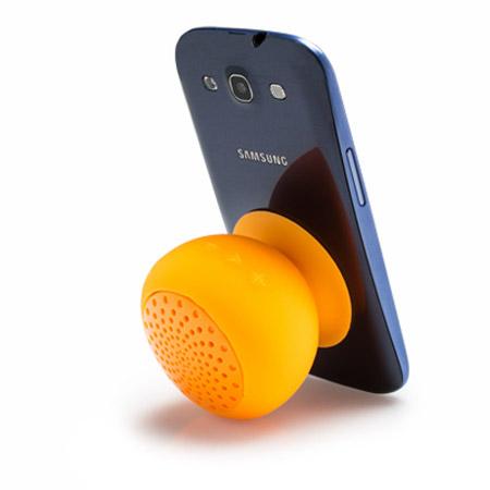 Gum Rock Bluetooth Portable Suction Speaker Stand - Orange