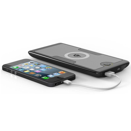 Qi Wireless Charging 6000mAh Emergency Charger - Black