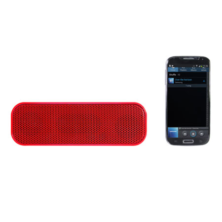 STK Portable Bluetooth Stereo Speaker - Red