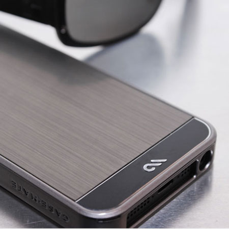 Case-Mate Brushed Aluminium for iPhone 5S/5 - Gunmetal Silver