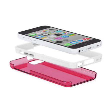 Case-Mate Tough Naked Case for iPhone 5C - Shocking Pink/White