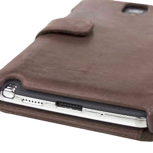 Zenus Retro Vintage Diary Case for Samsung Galaxy Note 3 - Brown