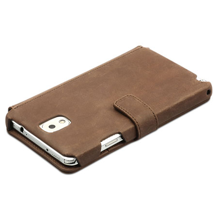 brand new bc576 bef23 Zenus Retro Vintage Diary Case for Samsung Galaxy Note 3 - Brown