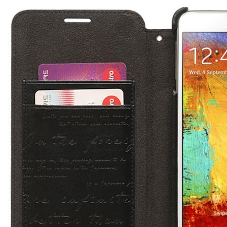 Zenus Masstige Lettering Diary Case for Samsung Galaxy Note 3 - Black