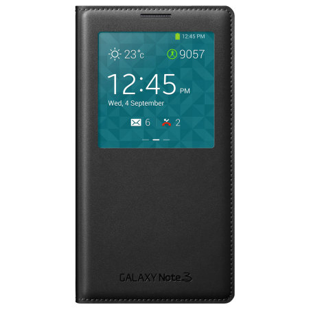Official Samsung Galaxy Note 3 S-View Premium Cover Case - Black