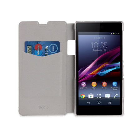 Roxfit Book Flip Case for Sony Xperia Z1 - Carbon Silver
