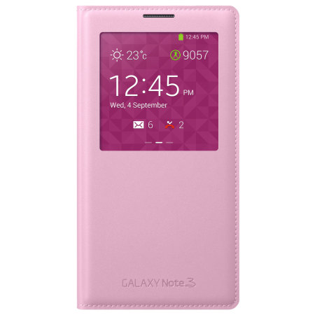 S View Premium Cover Officielle Samsung Galaxy Note 3 – Rose