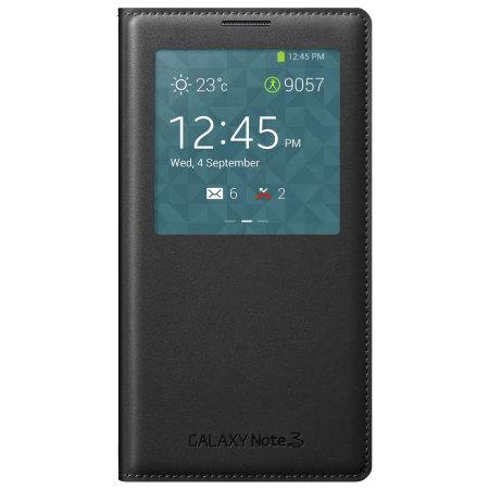 サムスン純正Galaxy Note 3用S-Viewワイヤレス充電カバー(ブラック)