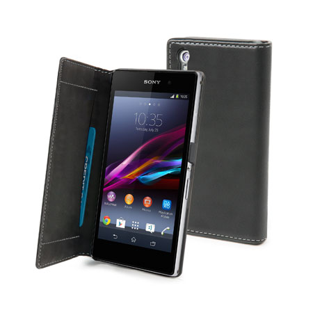 Muvit Sony Xperia Z1 Slim Folio Case - Black