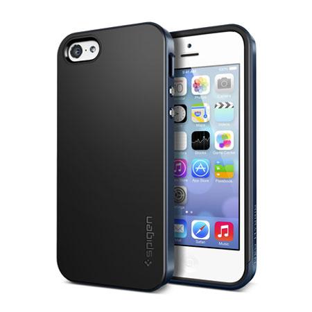 best website c874c ffbd2 Spigen SGP Neo Hybrid for iPhone 5C - Metal Slate