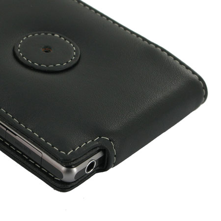 PDair Leather Flip Case for Sony Xperia Z1 - Black