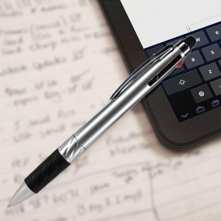iduo multi ink stylus pen silver