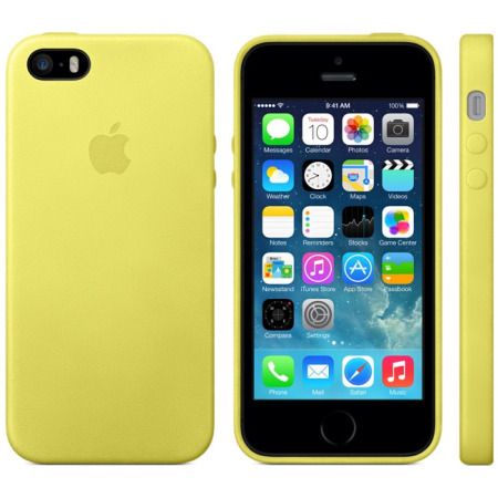 sale retailer 91911 06871 Official Apple iPhone 5S / 5 Leather Case - Yellow
