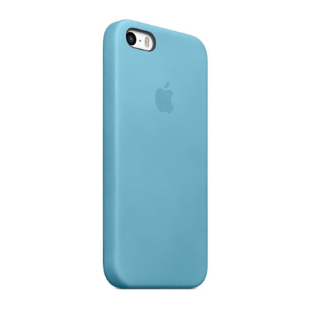 hot sale online a7344 92a0a Official Apple iPhone 5S / 5 Leather Case - Blue
