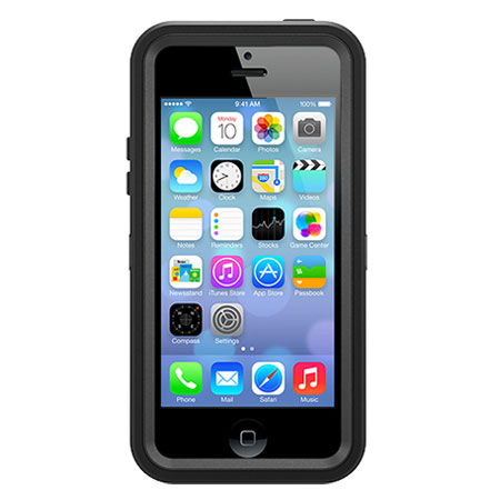 black iphone 5c otterbox defender series for iphone 5c black 10275