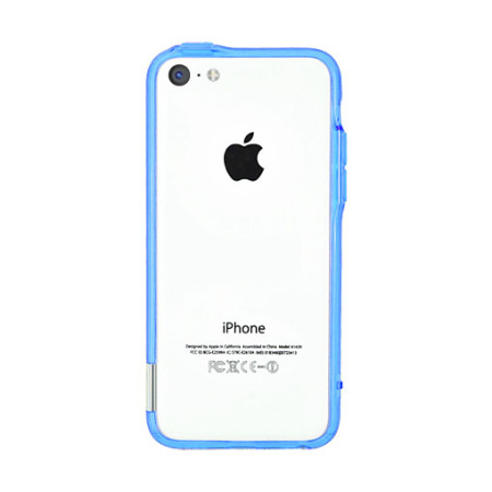 Pinlo Bladedge Bumper Case for iPhone 5C - Blue Transparent