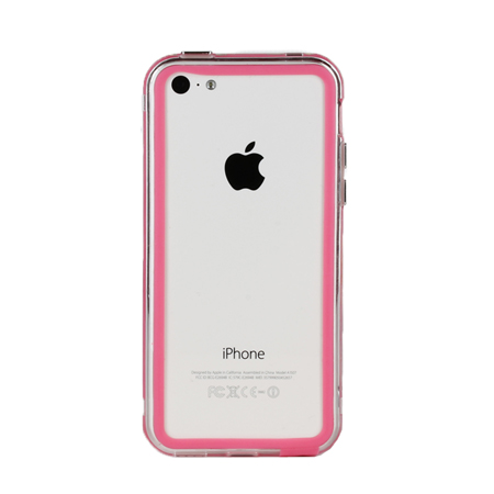 iphone 5c in pink genx bumper for apple iphone 5c pink mobilefun 6170