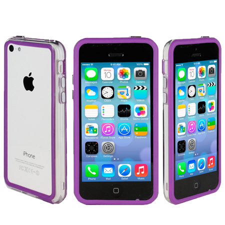 purple iphone 5c genx bumper for apple iphone 5c purple 12820