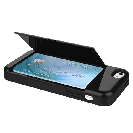 more photos 37341 a41ae Incipio Stowaway Credit Card Case for iPhone 5C - Black