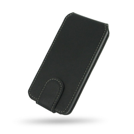 Ultra Thin Leather Flip Case for Apple iPhone 5C - Black