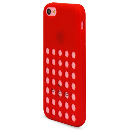 Circle Case for Apple iPhone 5C - Red