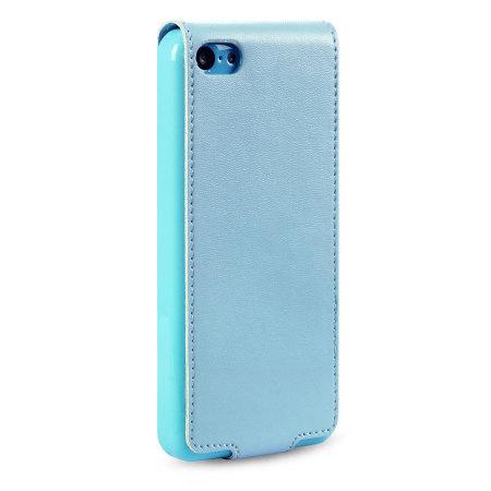 Premium iPhone 5C Flip Case - Blue