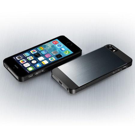 spigen sgp saturn for iphone 5s 5 metal slate. Black Bedroom Furniture Sets. Home Design Ideas