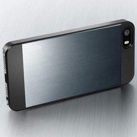 spigen sgp saturn iphone 5s 5 h lle in metal slate. Black Bedroom Furniture Sets. Home Design Ideas