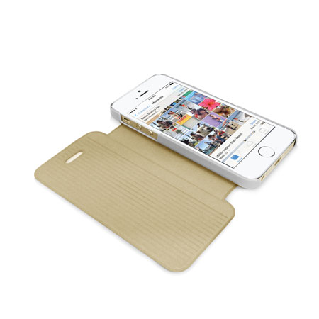 Orzly Wallet & Stand Case for iPhone 5S - Gold